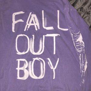 Lavender Fall Out Boy Band Long sleeve Tee